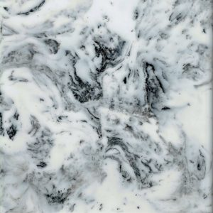 Busy Carrata white marble