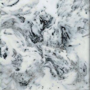Busy Carrata white marble